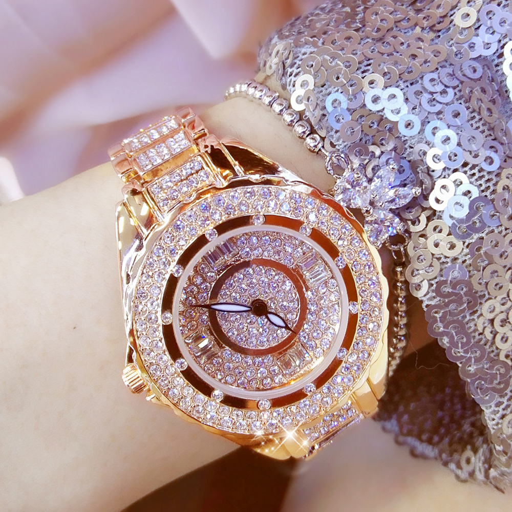 2019 New Luxury Women Watches Ladies Fashion Rhinestone WristwatchDiamond Big Dial Clock Quartz Watches Relogios Femininos