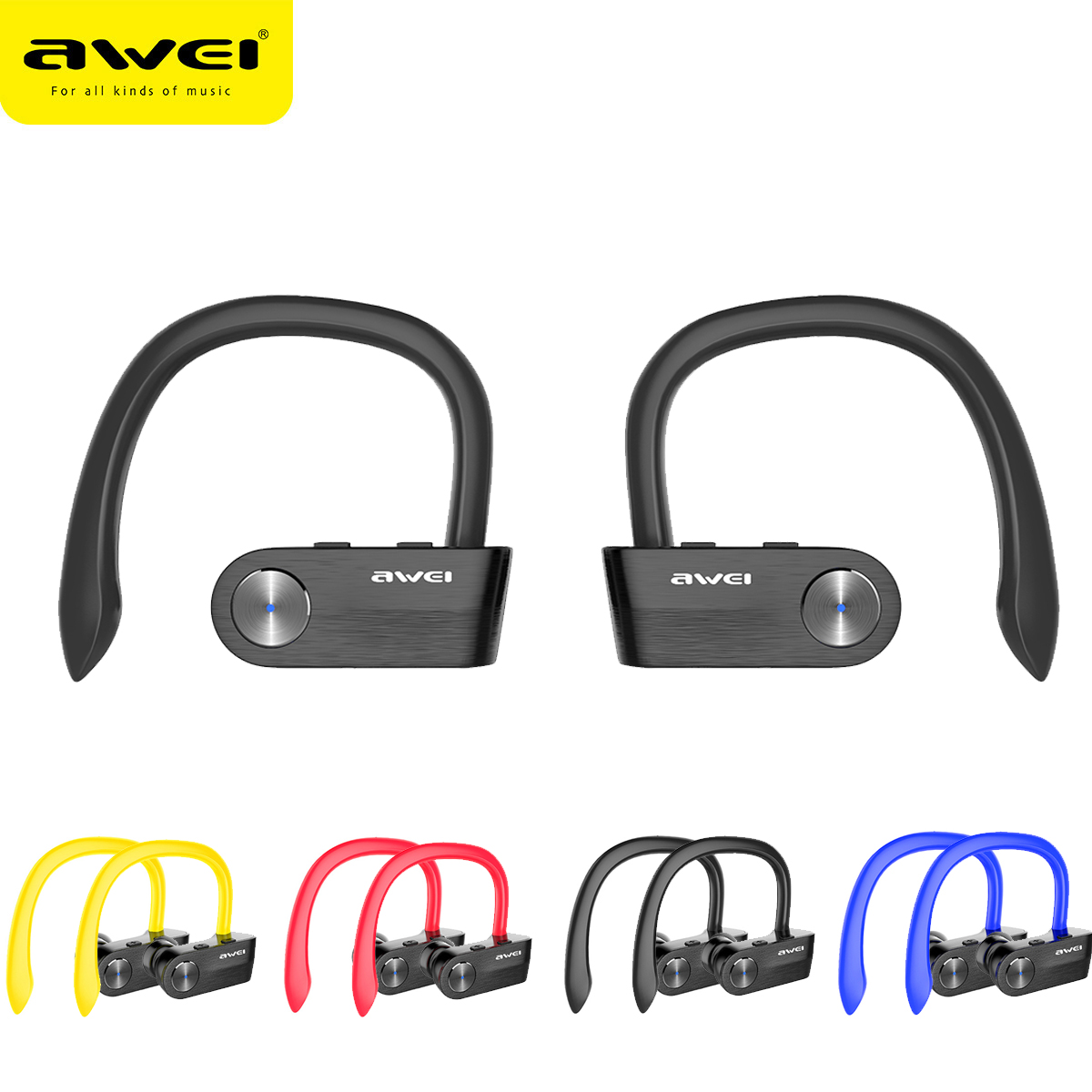 AWEI T2 Wireless Bluetooth Earphone TWS Stereo V4.2 Headset Cordless Ecouteur For Phone Auriculares With Microphone Bluetooth best price mini bluetooth headphones for mobile phone wireless earpiece earphone cordless stereo headset microphone feb8