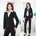 Fatos de Calça formais para Mulheres Calças Ternos Blazer e Jaquetas Conjuntos Senhoras Profissional Estilos Uniformes Escritório Elegante
