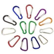 10 шт. легкий Карабин для альпинизма, походный крюк для кемпинга, для спорта на открытом воздухе, алюминиевая защитная Пряжка, аксессуары для альпиниста