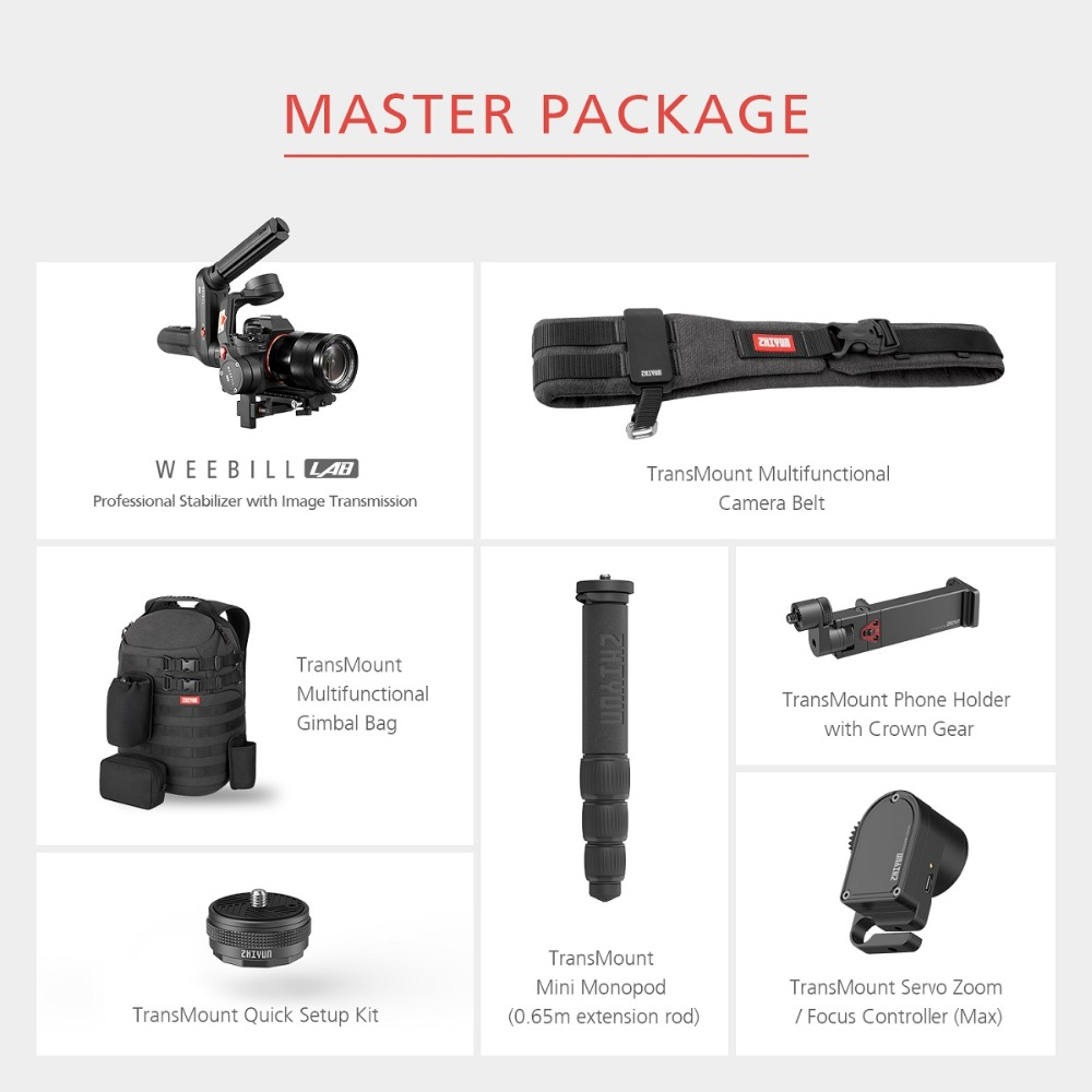 ZHIYUN Official Weebill LAB 3-Axis Image Transmission Stabilizer for Mirrorless Camera OLED Display Handheld Gimbal 19