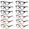 Gato Olho Mulheres Óculos de Leitura de Resina Cristal Rhinestone Decoração Óculos