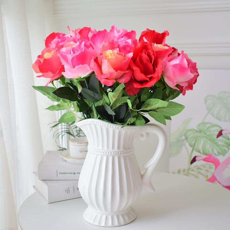 17pcs rožu vairumtirdzniecība zīda mākslīgie ziedi Kāzu - Svētku piederumi