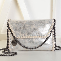 2018 Women Luxury Brand Design Long Chain Messenger Cross Body Shoulder Bags Silver Gold Black Gray