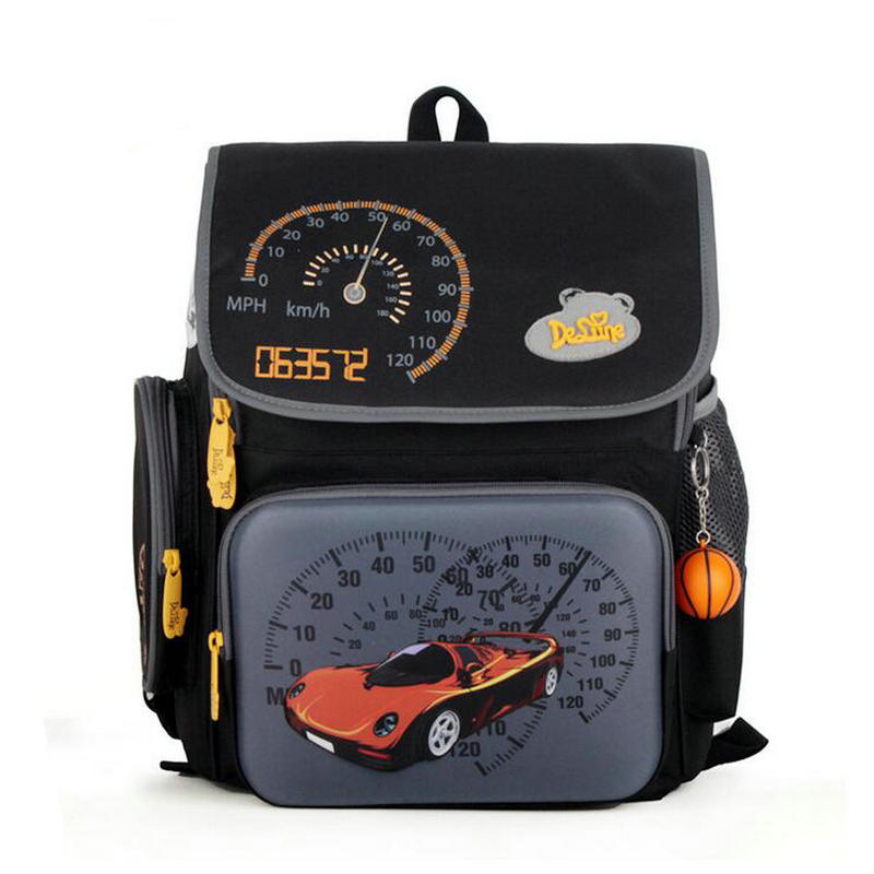 Russian brand Delune childrens backpack boys primary pupils schoolbag 1-3 grade car design negative protection ridge bags