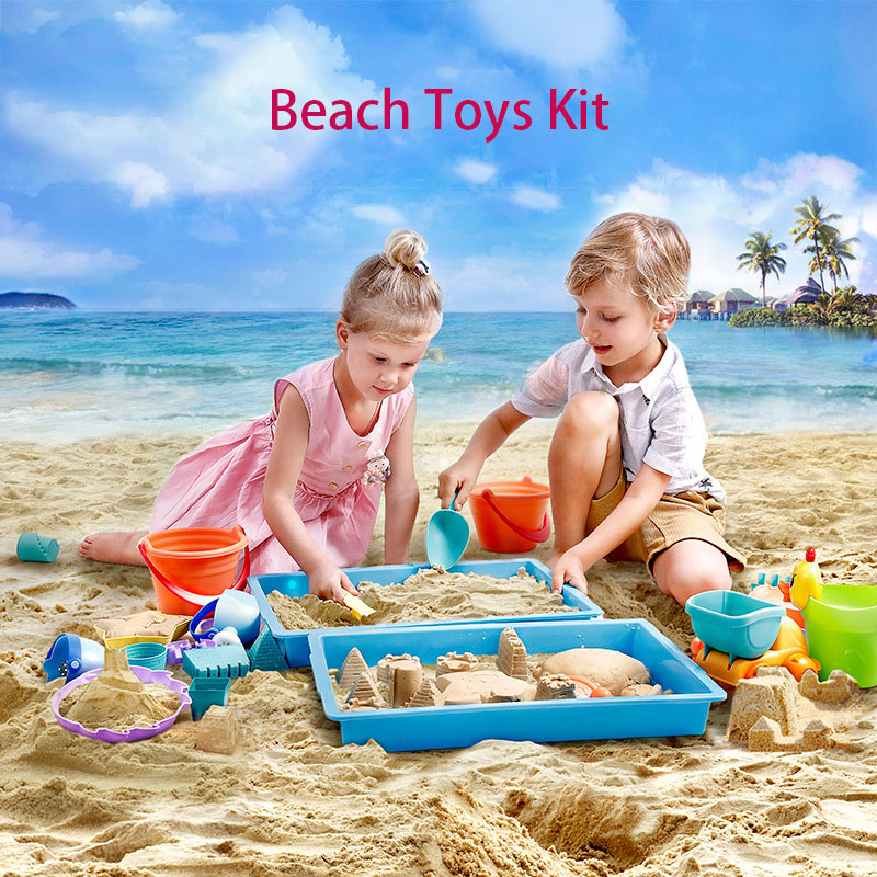 5/14pcs Funny Kids Beach Sand Game Toys Set Shovels Rake Hourglass Bucket Children Outdoor Playset Hot Castle Mode