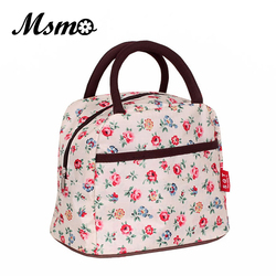MSMO 2019 New Hot Variety Pattern Lunch Bag Lunchbox Women Handbag Waterproof Picnic Bag Lunchbox For Kids Adult 22 colors