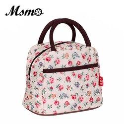 Msmo 2019 nova variedade quente padrão lancheira bolsa feminina à prova dwaterproof água piquenique saco lancheira para crianças adulto 22 cores
