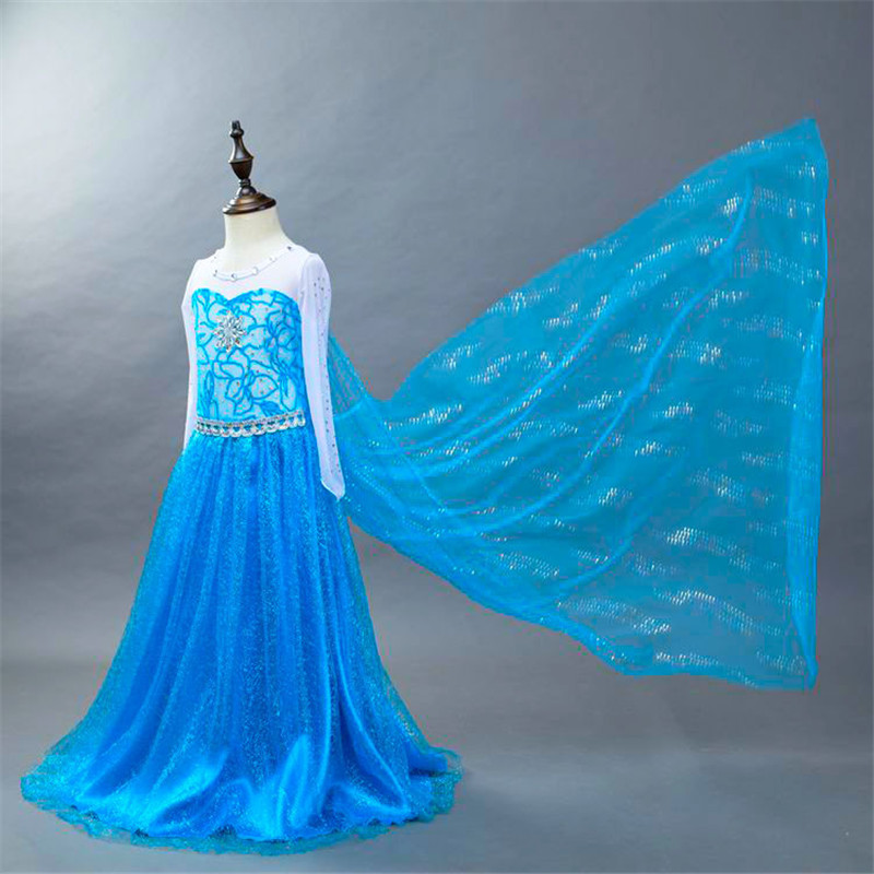 ФОТО Cosplay Party Dress Kids Rapunzel Girls Fairy Halloween Cinderella Dresses Girls Princess Anna Elsa Renaissance Costume Dress