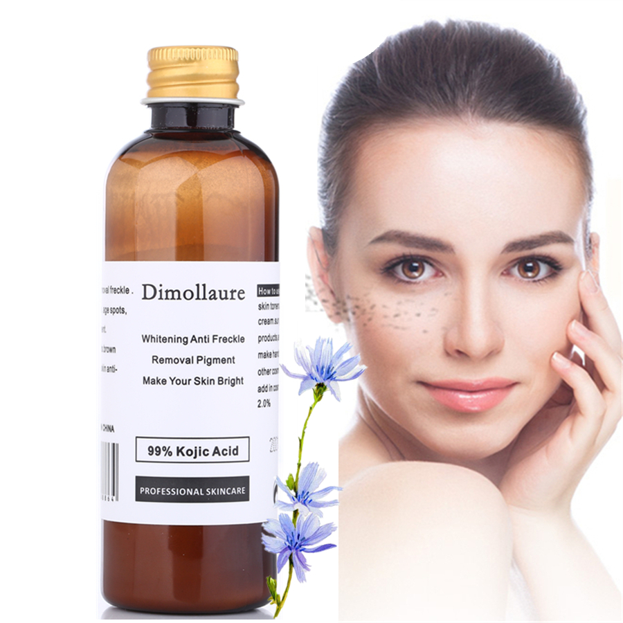 Dimollaure 100g pure 99% Kojic Acid scar removal Freckle melasma Acne scar pigment Melanin sunburn Dimore face whitening cream шарф 0 scar