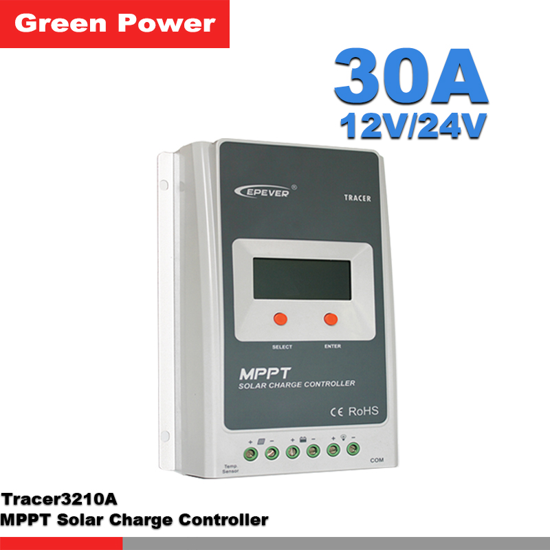 tracer3210a 30a 12v 24v solar charge controller solar panel battery regulator mppt controle. Black Bedroom Furniture Sets. Home Design Ideas