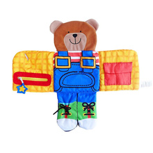 Baby Multi functional Three dimensional Bear Clothes Dressing Cloth Book Early Education cloth book Toys 40