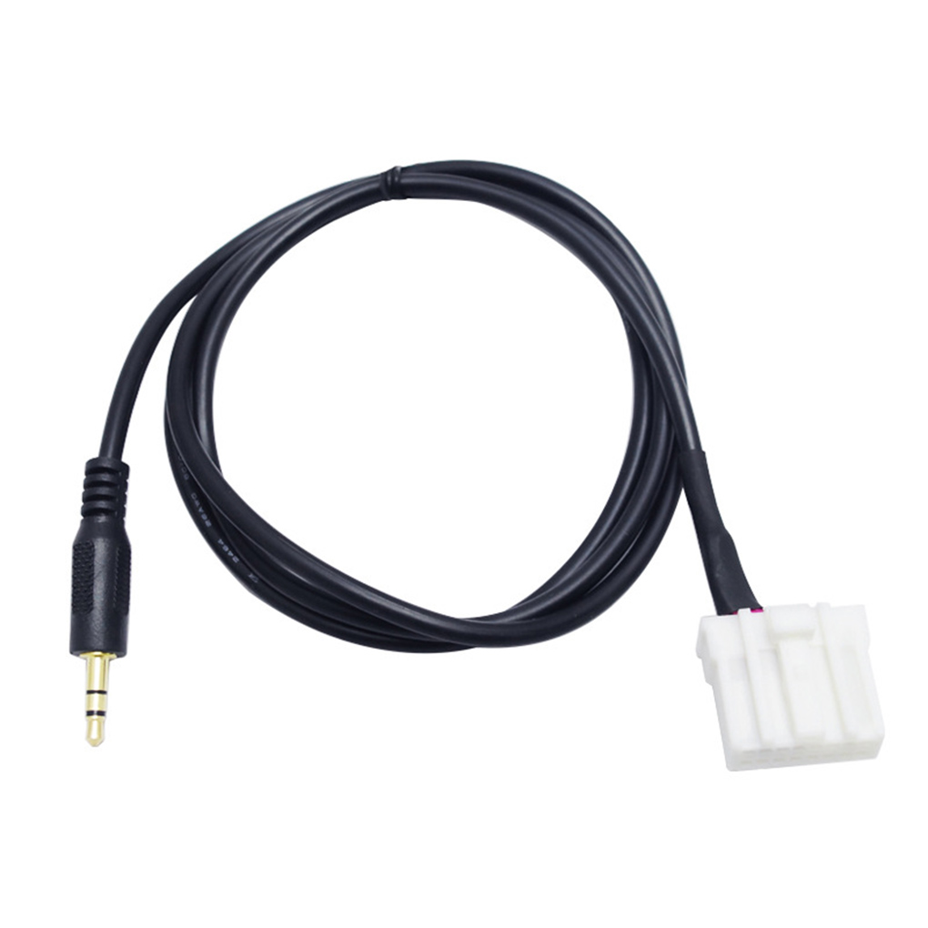 3.5mm Black B70 AUX Audio Adapter Input Cable for Mazda 2 3 5 6 MX5 <font><b>RX8</b></font> 2006 MP3 CD Changer Jack Plug image