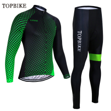 TOPBIKE Winter Thermal Fleece Long Sleeve sets pro team Men Cycling Jersey set GEL PAD ropa ciclismo sport Cycling Bicycle suits santic men cycling jersey sets long sleeve warm thermal sport cycling base layer sets skinsuit bike suits kits bicycle clothing
