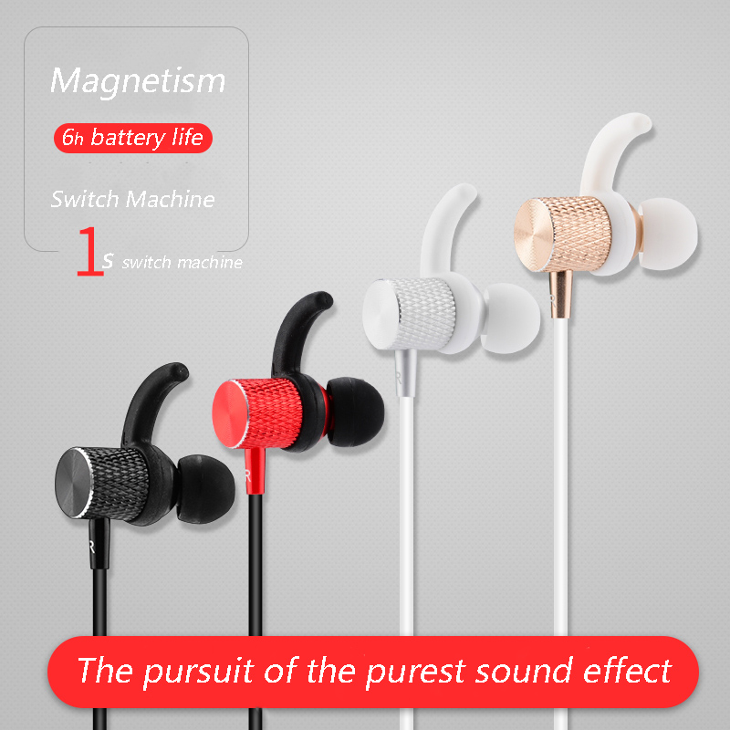 KOYOT Magnetic Wireless Bluetooth 4.1 Headset Build-in Mic Hands-free call Earphone Stereo Music Sports Headphone for Smartphone