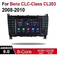 Android Car Multimedia player 2 Din WIFI GPS Navigation Autoradio For Mercedes Benz CLC Class CL203 2008-2010 NTG touch screen цена в Москве и Питере