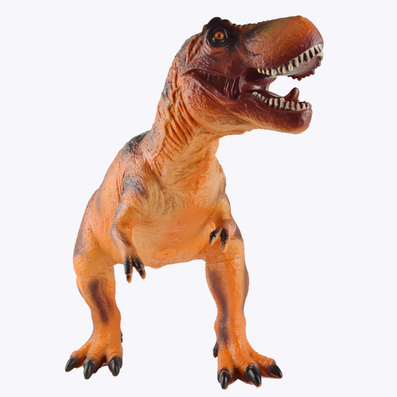 60 cm Super soft rubber Tyrannosaurus Rex model toys simulation dinosaur Decoration children 's educational toys New Year gifts the dinosaur island jurassic infrared remote control electric super large tyrannosaurus rex model children s toy