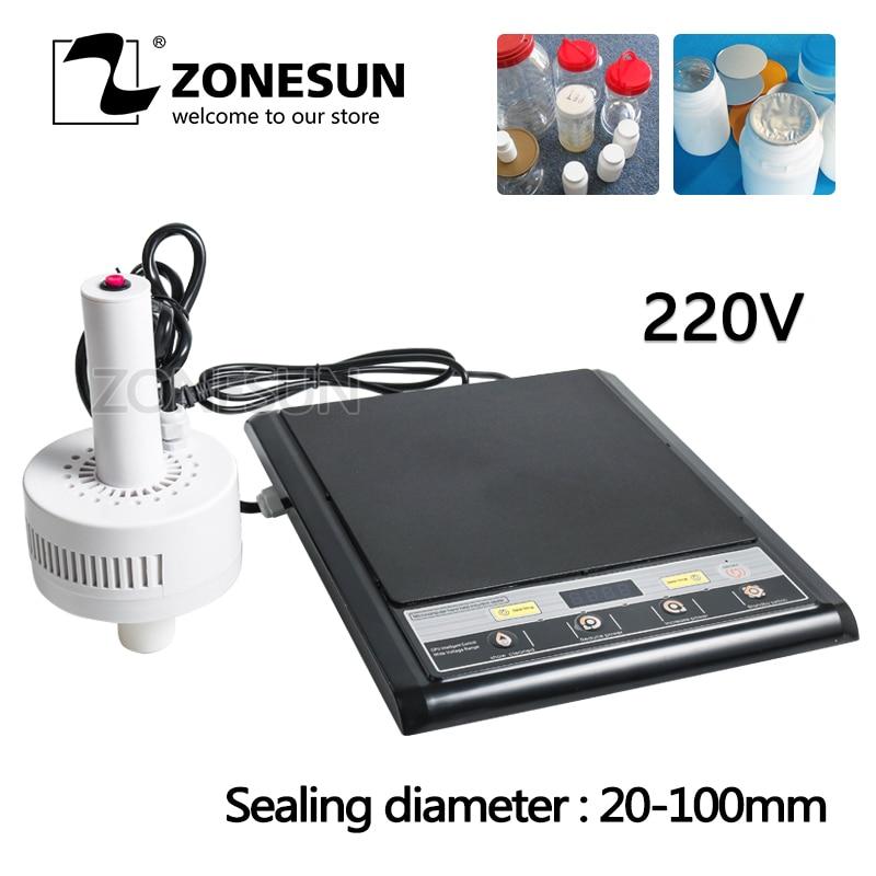 цена на ZONESUN Hand-held Electromagnetic Induction Medical Plastic Bottle Cap Sealer Sealing Machine 20-100MM for Aluminum Foil