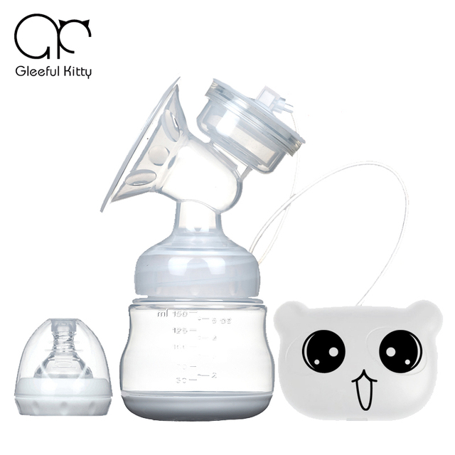 2016 oso de dibujos animados USB de la pantalla Táctil Avanzada sacaleches Eléctrico Sacaleches Eléctrico Grande de Succión de Alimentación Del Bebé Sola USB