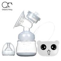 2016 Advanced Cartoon Bear Touch Screen USB Electric Breast Pump Large Suction Baby Feeding Single USB