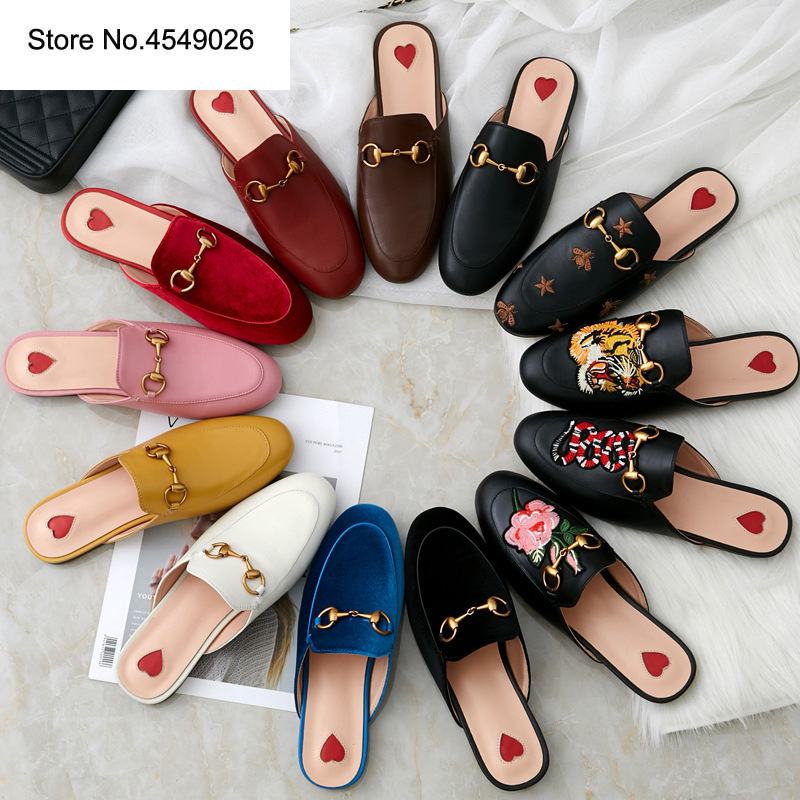 2019 Latest Fashion Hot Sells  Slippers Women Shoes American Flat Sandals Genuine Leather Slip-on Cute Plush Brand Slides2019 Latest Fashion Hot Sells  Slippers Women Shoes American Flat Sandals Genuine Leather Slip-on Cute Plush Brand Slides