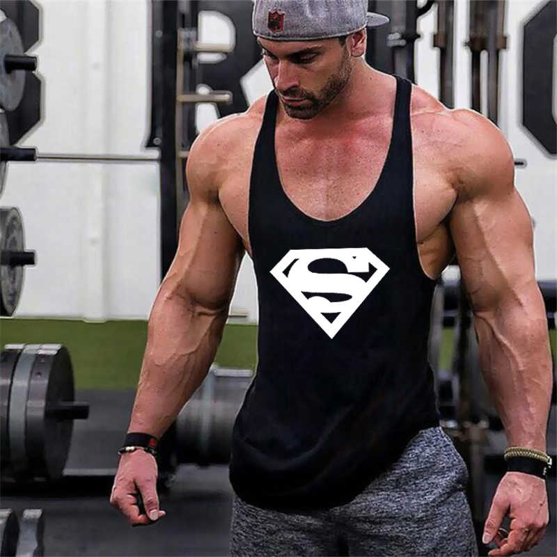 29251f28bc3ab Detail Feedback Questions about New Arrivals Bodybuilding stringer tank top  Superman Gyms sleeveless shirt men Fitness Vest Singlet sportswear workout  ...