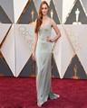 Nova 88th Oscar Vestidos No Tapete Vermelho Elegante 2016 Side Dividir Bainha Longa Vestidos de Celebridades