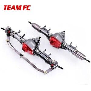 Image 2 - 1 ensemble 1/10 Rc voiture complète alliage CNC essieu avant et arrière en métal avec bras CNC usiné pour 1:10 Rc chenille axiale SCX10 RC4WD S242