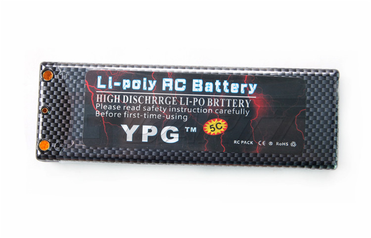 US Shipping 2pcs YPG 7.4V 7200mAH  60C 2S Lipo Li-poly Battery For RC Model Car Boat Truck Buggy b3 20w 2s 3s lipo battery compact easy balance charger for rc model us plug free shipping us eu plug
