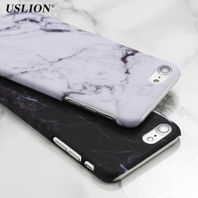 USLION Luxury Smooth Hard PC Phone Cases For iPhone 7 Marble Stone Skin Back Cover Case Capa Coque For iPhone7 6 6s Plus 5 5s SE