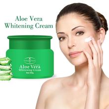 80g Aloe Vera Cream Hydrating Moisturizing Firming Skin Brighten Skin Color Face Whitening Cream love the skin should be 80g