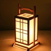 Japanese Floor Lamps wooden lantern creative personality wood color lamp Nordic bedside lamps LU815312