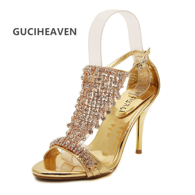 f80c9b444cbc11 Fashion sex sandals Star Diamond crystal Wedding Shoes 2017 party shoes  wholesale sexy Rhinestone sandals high heels pumps