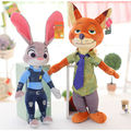 Free shipping!Zootopia Plush toys Rabbit Judy Hopps and Fox Nick Wilde Kids dolls Animal stuffed toy Children Birthday