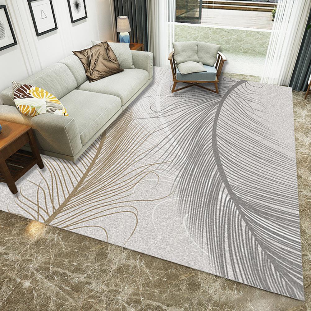 Chaud doux plume motif tapis tapis antidérapant tapis salon Pad tapis maison plancher tapis pour chevet salon thé Table décor - 3