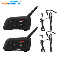 Fodsports 6 User Playground Full Duplex Talking Bluetooth Interphone For Football Referee Coach Wireless BT Intercom
