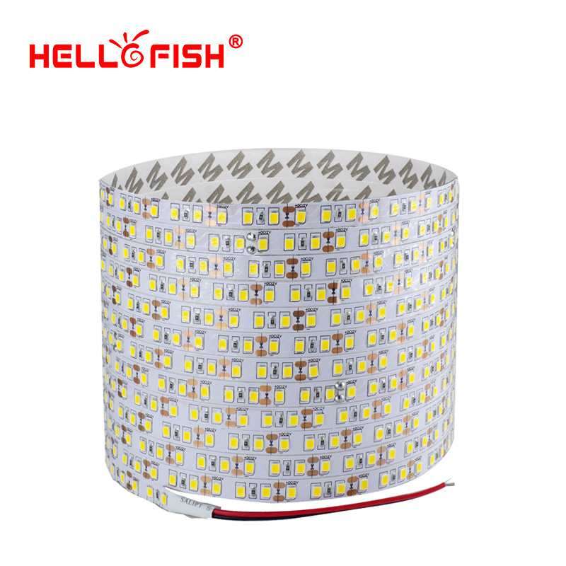 5m 2835 LED Jalur Single Layer PCB 600 Light 2835 SMD 12V Tape LED Fleksibel Putih Hangat Putih