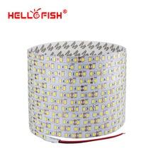 Fita led com 2835 lâmpadas, 5m, 600, pcb, camada única, 2835 smd, 12v, flexível, branco quente