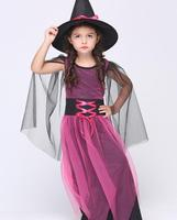 S XL Free Shipping Children S Halloween Costumes Kids Girls Witch Magician Costume Cosplay Fantasia Disfraces