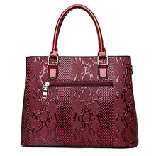 New Fashion PU Leather Women Bag Ladies Luxury Snake Shoulder Bags Designer Handbags High Quality
