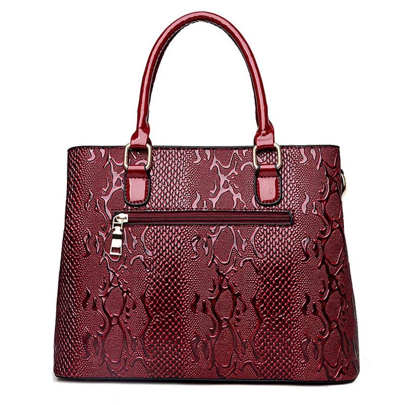 Нова мода PU кожа жените чанта дами - Дамски чанти - Снимка 3