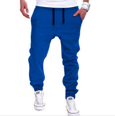2020 Brand mens Casual Tethered elastic waist trousers Solid color Beam foot pants hip hop Pencil pants male Sweatpants 6 colors 20