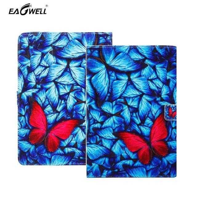 Cuero del tirón universal tablet case para ipad air 2 9.7 pulgadas 10.1 pulgadas tablet pc cubierta del soporte magnético protector case capa para