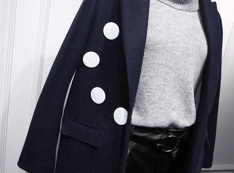 Casacos Mode Simple Noched Pardessus Automne Royaume Nouvelle Laine Rembourré Manteau uni De hiver Long 2019 Femme Maxi Britannique Femmes qpwxt1gfUx