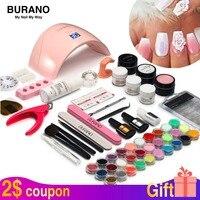 Burano new arrive acrylic nail art set UV/LED nail lamp Dryer acrylic nail kit set with lamp nail tools set 011