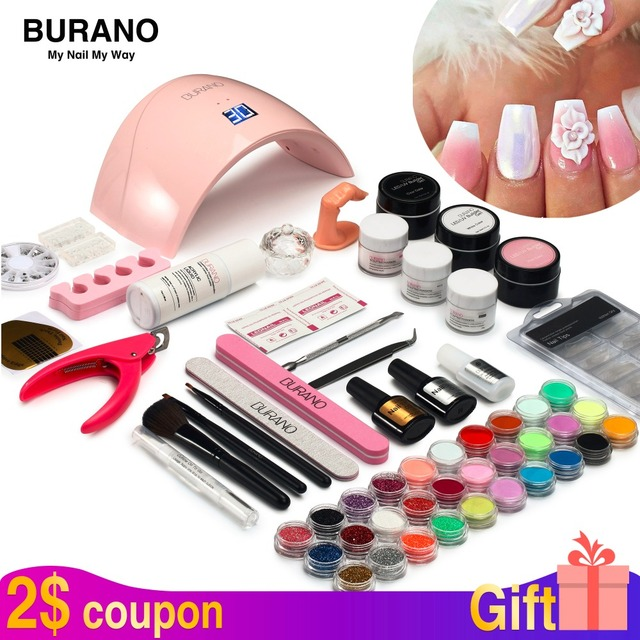 Burano new arrive acrylic nail art set UV/LED nail lamp Dryer ...