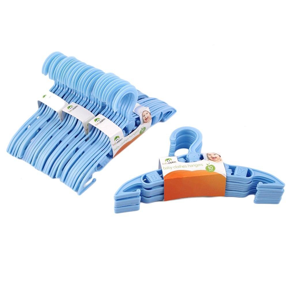 40 x Kids Baby Plastic Coat Clothes Garment Trousers Hangers Blue durable