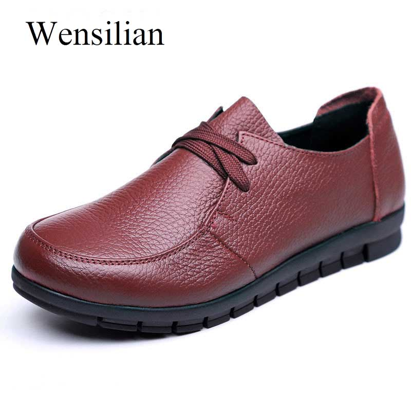 Women's Flats Genuine Leather Loafers Casual Shoes 2018 New Designer Ballet Flats Slip On Fenty Beauty Low Heel Chaussure Femme zdrd women casual shoes high quality designer genuine slipony flats women loafers shoes chaussure femme ballet flats boat shoes
