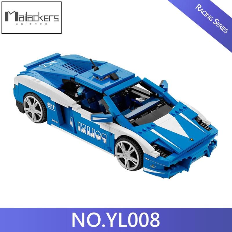 Compatible Creative The Lamborghini Racing Car Gallardo LP560 4 Cars Building Blocks Bricks Toys