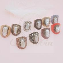 купить The new The baroque  5Pcs simple and irregular design fashion mixed color snakeskin open loop adjustable дешево